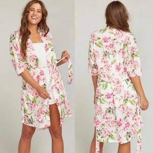 Show Me Your Mumu   Brie Floral Robe   One Size